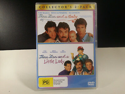 Three Men And A Baby / 3 Men And A Little Lady ( DVD , 2-Disc Set ) REGION 4