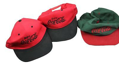 VINTAGE RED EMBROIDERED Coca-Cola Ball Cap Hat w Brass Lever for ... 2a7b8eb8f5d9