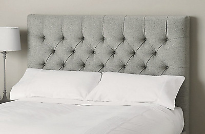 Grantham High headboard Faux Wool Bed Single, Double, King, Superking