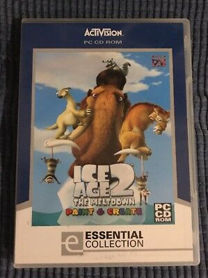Ice Age 2 The Meltdown Paint and Create educational PC CD ROM