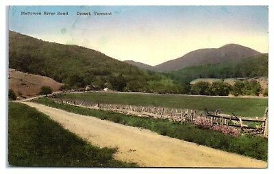 1940 Mettowee River Road, Dorset, VT Hand-Colored Postcard