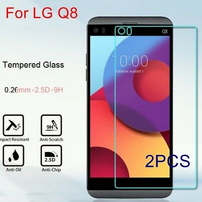 2X Premium Explosion-proof Tempered Glass Guard Screen Protector Film For LG Q8