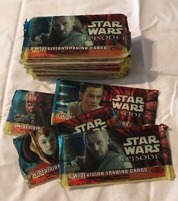 Star wars episode 1 widevision trading cards card 16 pack set sealed 1999 maul