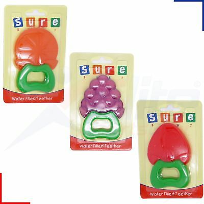 Baby Water Filled Teether Ring Soothe Teething Gums PVC Free