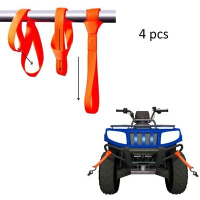 4Pcs Soft Loop Tie Down Straps Ratchet Towing Cargo ATV UTV Motorcycle 600 BWHYH
