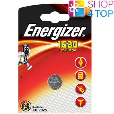 Energizer Cr1620 Lithium Batteries 3V Coin Cell Dl1620 Exp 2025 New