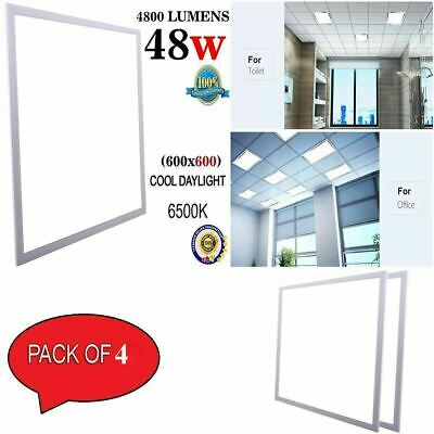 4 X 48W Ceiling Suspended Recessed LED Panel Light 6500K Cool White 600 x 600mm
