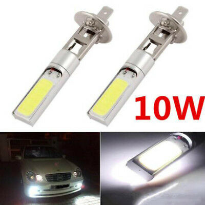 2PCS LED H1 COB Car DRL Fog Driving Daytime Running Lamp Turn Light Waterproof