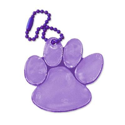 funflector Safety Reflector - Paw Print - Purple - 1-pack
