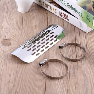 Motorcycle Exhaust Muffler Pipe Heat Shield Cover Heel Guard Clamp for Cruiser