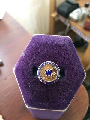 Vintage WESTINGHOUSE ELECTRIC CORPORATION 5 Years Service Award PIN 10K GF 11/16