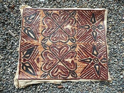 Vintage Polynesian Tapa Cloth Bark Painting 29x24 …beautiful collectors  piece