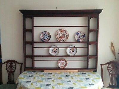 Original Antique Georgian Oak Plate Rack