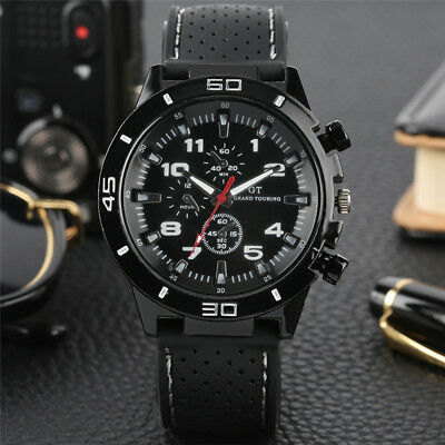 Men's Watch Wristwatch Sport Military Analog Army Quartz Rubber Strap Men Gift