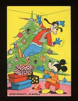 """1966 MICKEY MOUSE Continental Size Postcard from Italy!   4-1/8"""" x 5-3/4"""""""