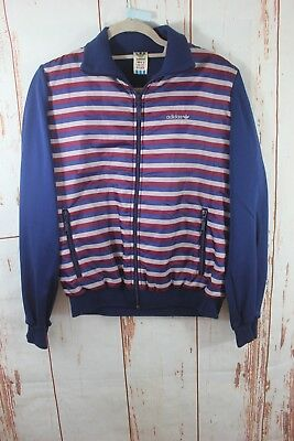 Vtg Adidas Cool Multicoloured Stripped Tracksuit Jacket Size L