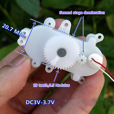 DC 3V 3.7V 24RPM Micro Worm Gear Motor Mini Coreless Motor DIY Toy accessories
