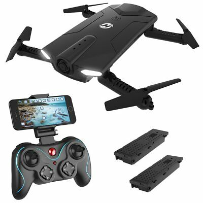 Holy Stone HS160 FPV RC Drone w. HD Camera Foldable Pocket Quadcopter 2 Battery