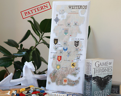 Westeros Map (Game of Thrones) - Cross Stitch Pattern