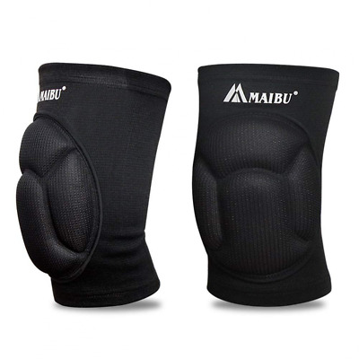 Protective Knee Pads Thick Sponge Anti-Collision Protector Non-slip Wrestling US