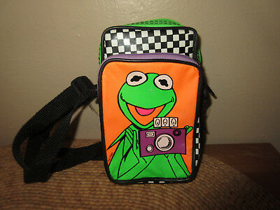 Vintage Kermit The Frog Camera Case Crossbody Bag Pouch Purse Muppets 1989