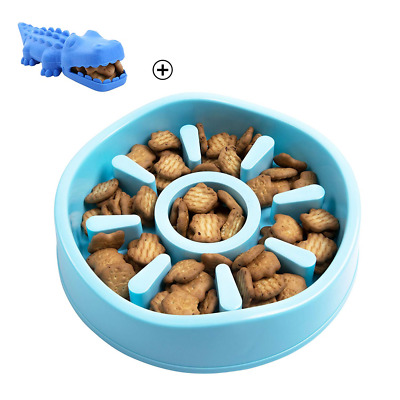 Slow feeder dog bowl,chew toy Bloat Stop Maze Interactive, Non Skid Design,3Cups