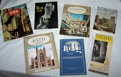 Assortment of 7 Travel Booklets, Brochures-England, USA