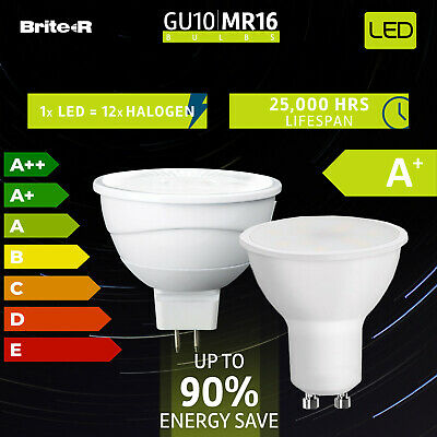 4/10x High Power GU10 GU5.3 MR16 5W=50W LED Light Bulb Spotlight Warm Cool White