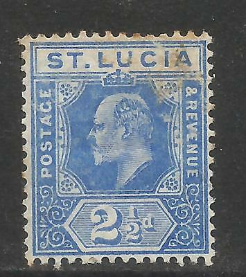 St Lucia 1907-10 King Edward VII 2 1/2p ultramarine (59) used