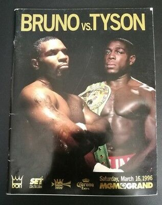 1996 Frank Bruno V Mike Tyson Mgm Grand Boxing Programme