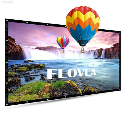 Durable Lightweight 100 Inch Foldable Projection Screen Lobbies Business