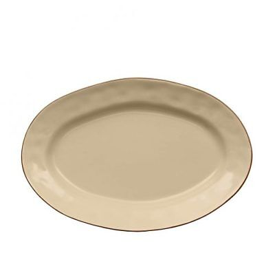 """Skyros Designs Cantaria Small Oval Platter, 12"""" x 8"""", Sand"""