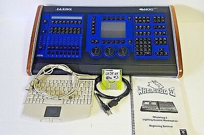 Jands Hog 500 Lighting Console w/ Keyboard, Manual, Disk, Power Cord & Cover