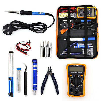 60W Soldering Iron Kit Electronic Welding Irons Tools Set Adjustable Temperature