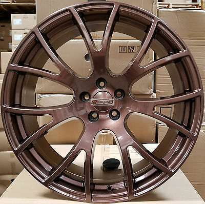 22 Hellcat Wheels Gloss Bronze Stagger Rims Fits 300C Dodge Challenger Charger