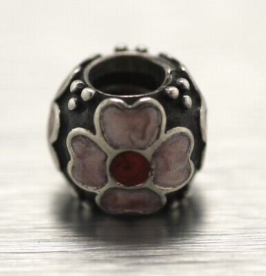 Jewelry & Watches Pandora Sterling Silver Enamel Flower Bead Charm ~ 3.8 Grams ~ 4-h1129