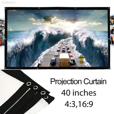 16:9/4:3 Polyester Oudoor Folded Projection Screen for Projector Screen 40 Inch