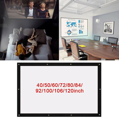 "16:10 40/60/72/84/100"" Education Folded Projection Screen Polyester"