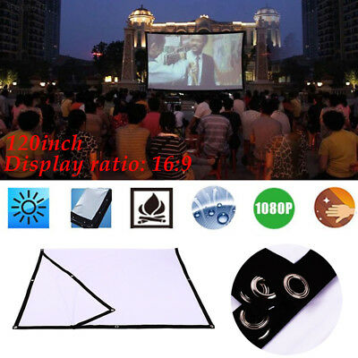 Portable Durable 120inch 16:9 Projector Cloth Screen Education Projector Screen