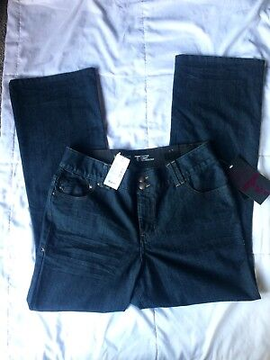 Lane Bryant Jeans Tighter Tummy Technology bootcut stretch $64 NWT 16 Slimming