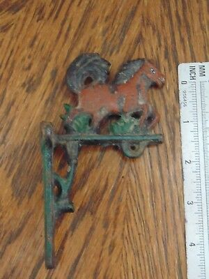 Vintage Cast Iron Horse Shelf Bracket Good For Wind Chimes Cool Old Piece