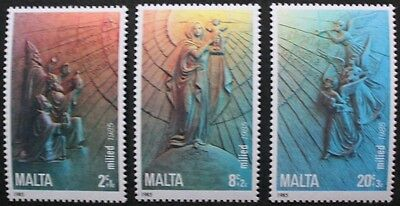 Christmas stamps, wise men, virgin & child, 1985, Malta, SG ref: 769-771, MNH