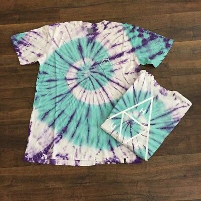 HUF men's graphic/t-shirt,  LARGE ,  tie dye, w/defects