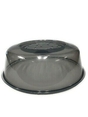 """2PC 11"""" Microwave Safe Dish Plate Food Plastic Lid Cover Splatter With Vents"""