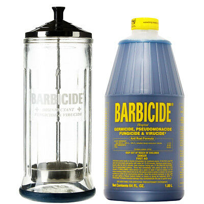 King Research Barbicide Disinfecting Jar Large 37oz&Disinfectant 64oz w/NailFile