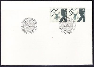 Sweden 1972  - 75 ore  Windmills First Day Cover  Unaddressed