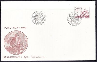Sweden 1977  - 2k10 Tailor  Illustrated First Day Cover  Unaddressed