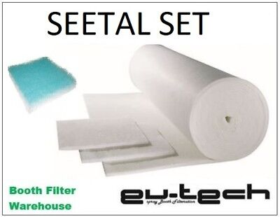 Seetal Spray Booth - Complete set Filter Media. Free Freight*