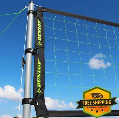 Professional Volleyball Net Set Outdoor Sports Park Beach Portable Poles Ball