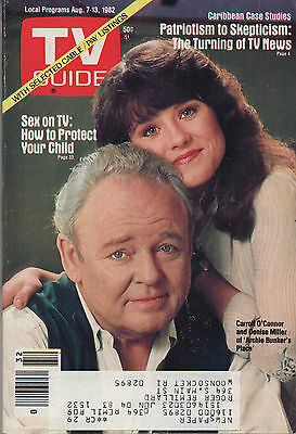1982 TV GUIDE Caroll O'Connor and Denise Miller of Archie Bunker's Place Aug. 7